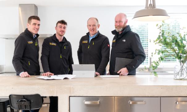 Senior Management team - Sam Allen, Harry Croft, James Sutcliffe, Neil Capstick